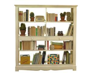libreria a giorno in legno massello Margot noce - 155x165x50 cm