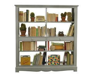 libreria a giorno in legno massello Margot beige - 155x165x50 cm