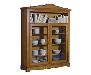 mobile vetrinetta in legno massello margot - 160x199x50 cm