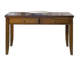 tavolo da pranzo allungabile in legno massello margot noce - min 140x80x70 cm