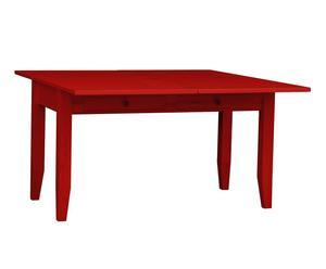 tavolo da pranzo allungabile in legno massello margot mattone - min 140x80x70 cm