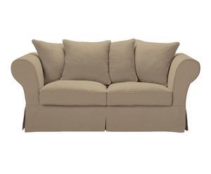 divano a 2 posti charlotte ecrù - 190x80x95 cm