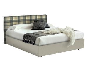 letto contenitore matr. ninfea Beige/verde - 175x95x205 cm