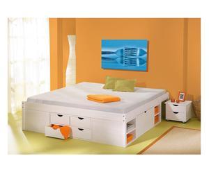 letto multiuso in pino massello till bianco - 167x48x209 cm