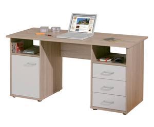 scrivania in legno con cassetti callas - 148x75x60 cm