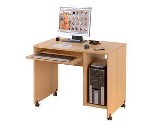 scrivania porta pc in legno capo - 90x77x55 cm