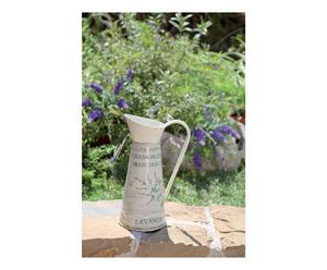 Brocca decorativa in latta Flower - 7x29 cm