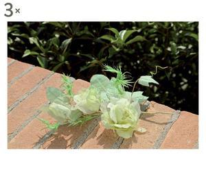 set di 3 composizioni floreali rose - 28 cm