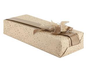 set regalo (carta, nastri, cordino) stars oro - 5 pezzi