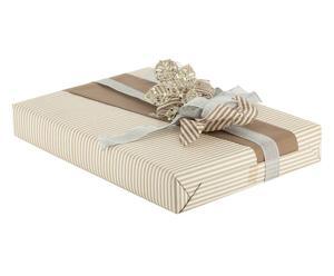 set regalo (carta, nastri, decorazione) stripe - 5 pezzi