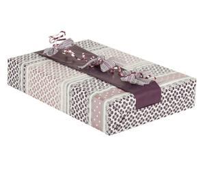 set regalo (carta, nastri) violet - 4 pezzi
