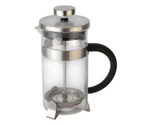 TEIERA CAFFETTIERA in acciaio e vetro CON PISTONE - 450 ml