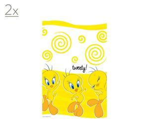 Set di 2 tovaglie di carta giallo Tweey Yellow - 120X180 cm