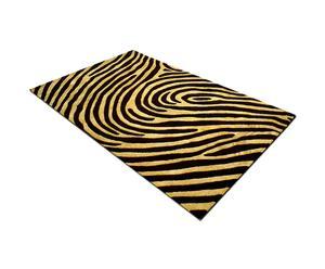 Tappeto in lana Doss marrone e beige - 170X240 cm