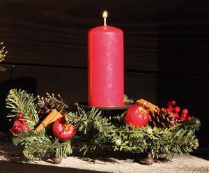 Portacandela in plastica e ferro per 1 candela Merry Christmas