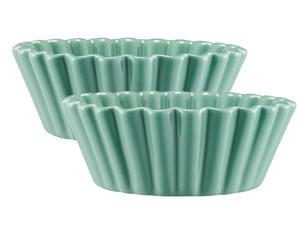 set di 2 stampi in gres Cupcake - verde acqua