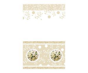 Tovaglia di carta bianco/panna Wedding - 120X180 cm