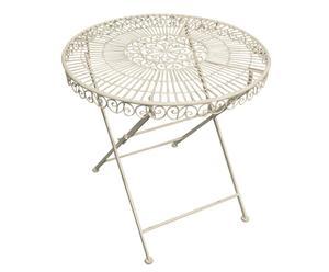 Tavolino tondo in ferro battuto RECTORY - 70x75 cm