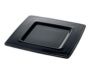 Piatto in vetro nero I Radiosi - 33X33 cm