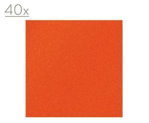 40 Tovaglioli di carta a 2 veli arancione Arancio - 33X33 cm