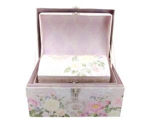 set di 3 bauletti portatutto rose floral
