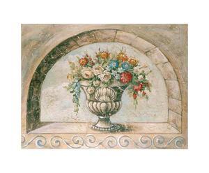 Oleografia su tela Flowers I - 36x28 cm