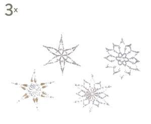set di 12 stelle di neve decorative snowflacke - d 16 cm
