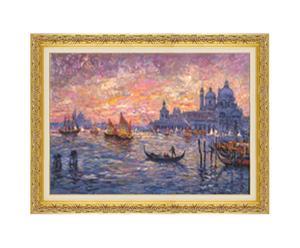Venezia - litoserigrafia materica su tela firmata dall'autore, cm. 50x70