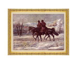 Inverno in maremma - litoserigrafia materica su tela firmata dall'autore, cm. 50x70