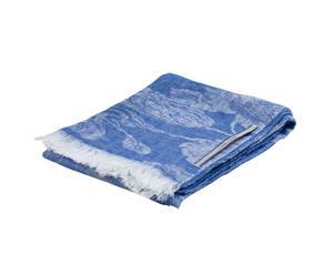 sciarpa in puro lino zucchero celeste - 70x200 cm