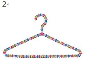 Set di 2 grucce triangolo in pvc Perla Multicolor - 40x20 cm
