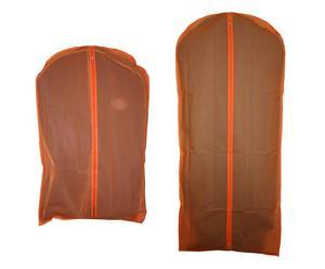set di 4 custodie per cappotto in peva gloris arancione - 60x135 cm