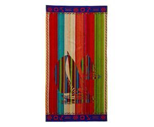 telo mare in cotone egiziano capri vela - 95x170 cm