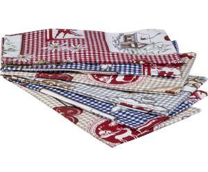 Set di 6 asciugamani in 100% cotone Ortisei - 40x40 cm