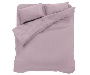 parure copripiumino matr. In lino linum - rosa chiaro