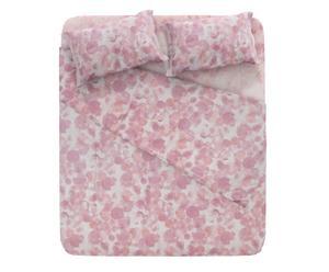 completo letto 1 piazza e mezzo In cotone vintage - rosa selvatica