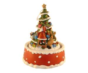 albero di natale carillon happy - d 11/h 14 cm