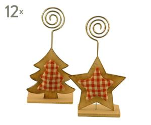 set di 24 segnaposto country - 7x13x3 cm