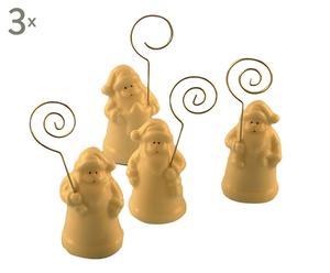 set di 12 segnaposto in ceramica babbo natale - d 3/H 9 cm