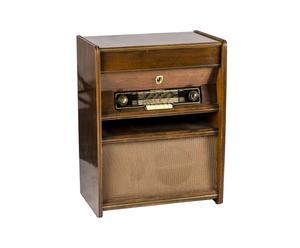 MOBILE RADIO ORIGINALE MARELLI IN LEGNO E GIRADISCHI - 60X78X37 CM