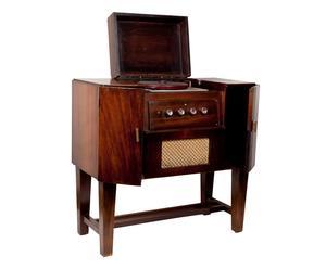 Mobile giradischi Telefunken in legno, bachelite e tessuto - epoca: '900