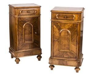 Set di 2 comodini in legno restaurati - epoca: primi '900