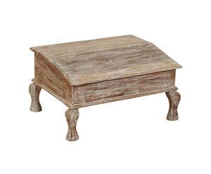 cassapanca in legno indiano decapato deepa - 70x39x55 cm