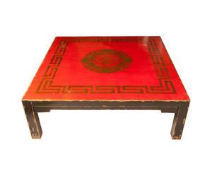 Tavolo orientale in legno multicolore - 120x40x120 cm