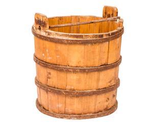secchio in legno fine '800 - d 28/H 36 cm