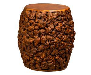 sgabello in legno fatto a mano - d 33/H 38 cm
