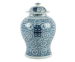 potiche cinese in porcellana jing - d 27/h 43 cm