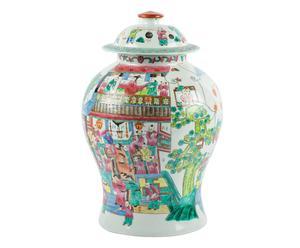 potiche cinese in porcellana Lancang - d 27/h 43 cm