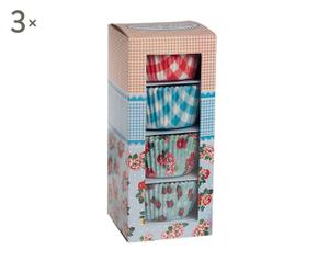 set di 3 confezioni di pirottini in carta Flower