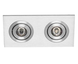 faretto doppio in alluminio ad incasso F-LED12